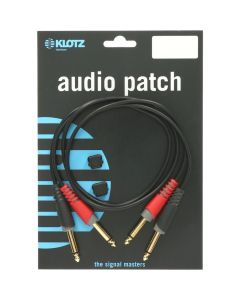 "Klotz AT-JJ0100 Twin Cable 1/4"" - 1/4"" 1m"