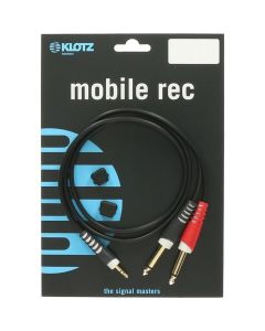 "Klotz AY5-0200 Y-Cable (3.5mm TRS - 2x 1/4"" TS)"