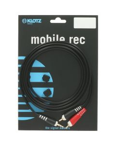 Klotz AY7-0200 Y-Cable (3.5mm TRS - 2x RCA)
