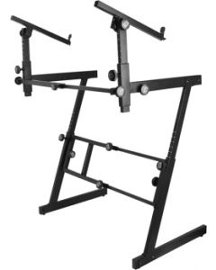 OnStage KS7365-EJ Pro Z Double-Tiered Keyboard Stand